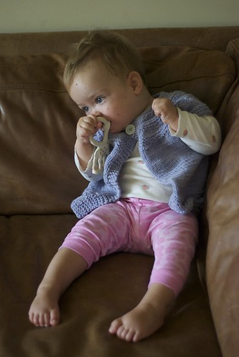 C in her baby shrug
