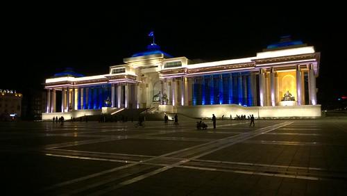 mongolia nightview ulaanbaatar sukhbaatarsquare lumia920 chinggiskhaansquare
