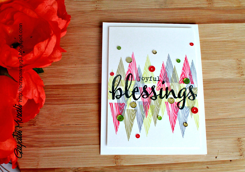 Joyful blessings card