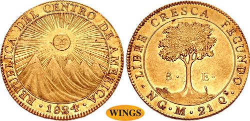 GUATEMALA, Central American Republic. 8 escudos