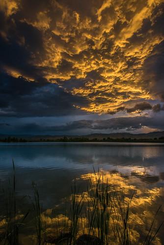 sunset bouldercolorado cootlake