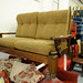 2 seater oak framed sofa