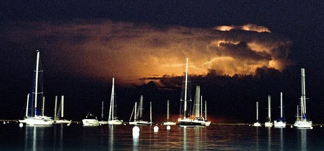 Summer Storm over Marina, 35mm film