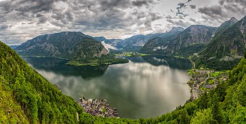 panorama mountain lake lago austria nikon panoramic panoramica verano montañas d800 hallstatt altaaustria