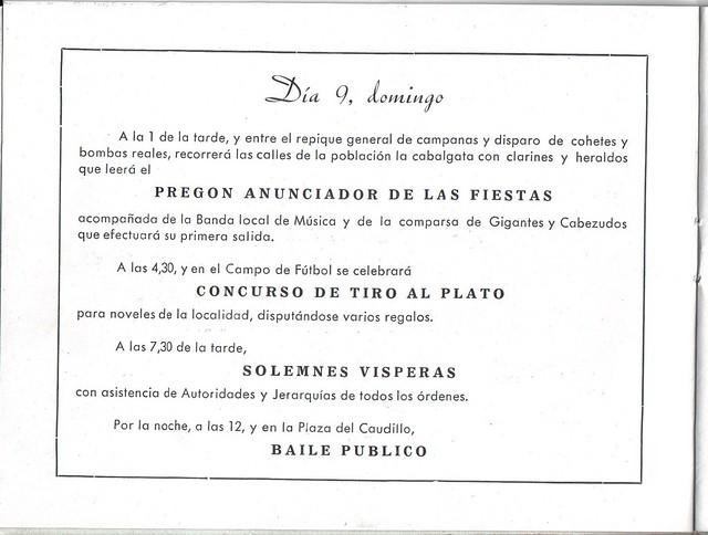 Programa Fiestas de San Lorenzo Año 1959