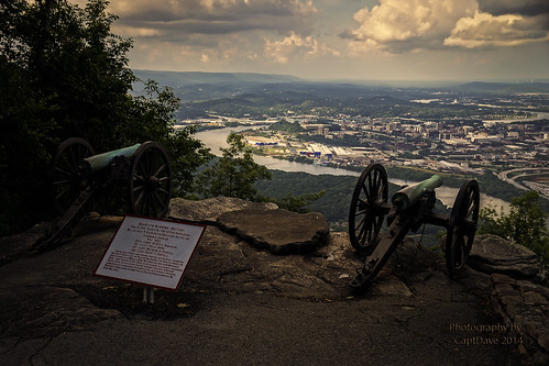 Garrity's Alabama Battery Lookout MT. Chattanooga, TN Sunset HDR 6X4