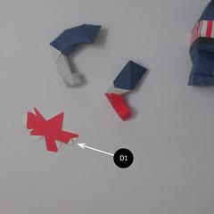 วิธีทำของเล่นโมเดลกระดาษกับตันอเมริกา (Chibi Captain America Papercraft Model) 021
