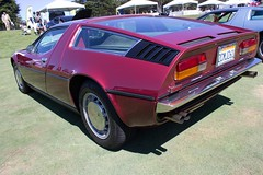 maserati merak(0.0), lamborghini jalpa(0.0), race car(1.0), automobile(1.0), automotive exterior(1.0), vehicle(1.0), performance car(1.0), maserati bora(1.0), classic car(1.0), land vehicle(1.0), coupã©(1.0), supercar(1.0), sports car(1.0),