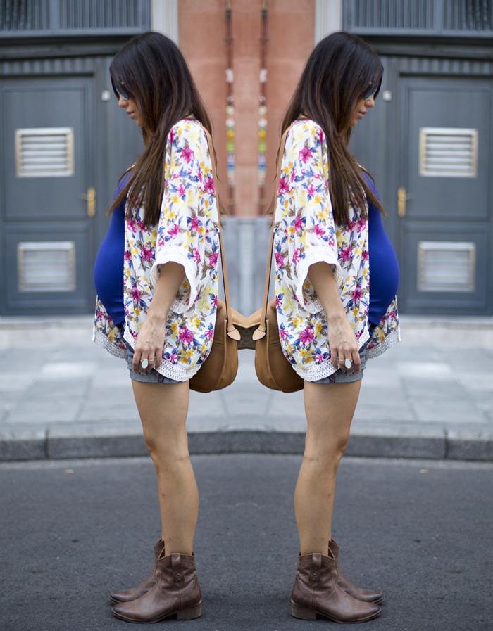 street style barbara crespo floral kimono she inside fashion blogger outfit blog de moda