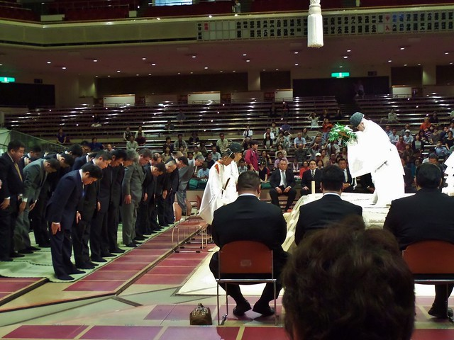 Priests at Sumo Opening Ceremony