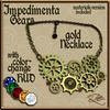 AZE Impedimenta Color Change Gold Necklace with HUD