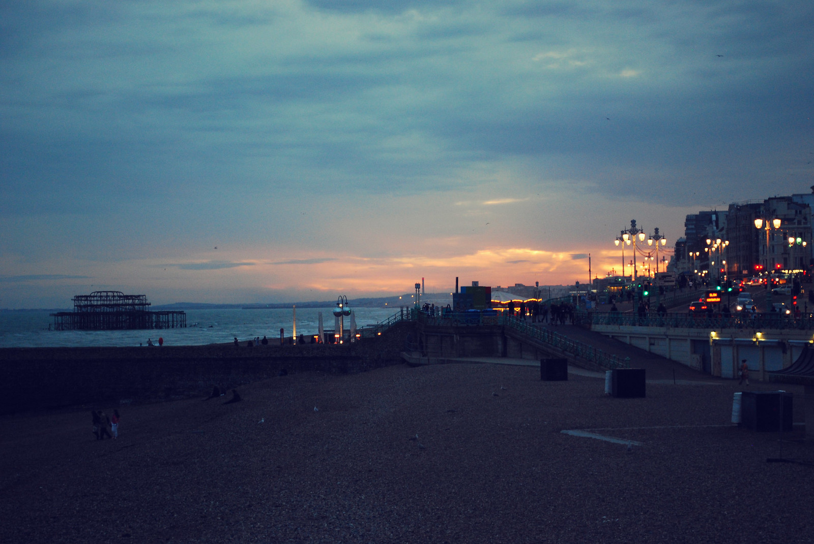 Typical Brighton Sunset UK