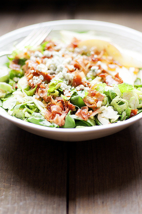 brussels sprout and spinach salad