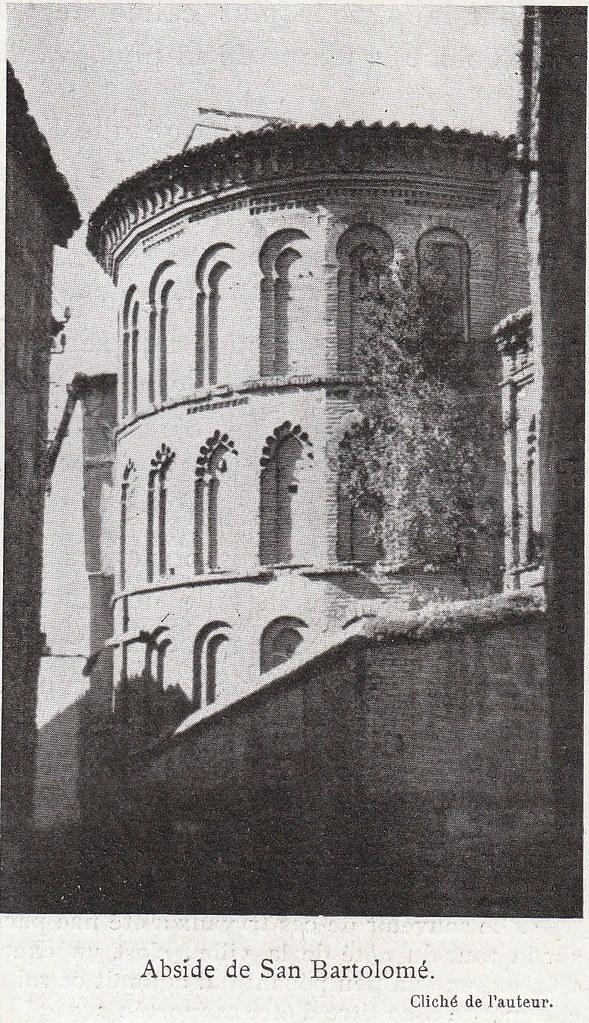 Iglesia de San Bartolomé a comienzos del siglo XX. Fotografía de Élie Lambert publicada en su libro Les Villes d´Art Célebres: Tolède (1925)