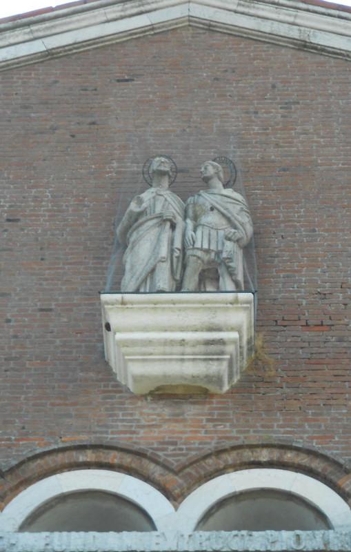 statua, chiesa, Lusia