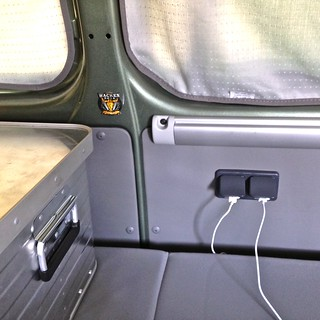 iPad Storage & Charging in the VW California Beach