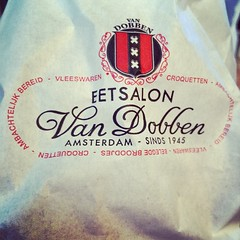 Dinner is served! Eetsalon Van Dobben is my favorite!