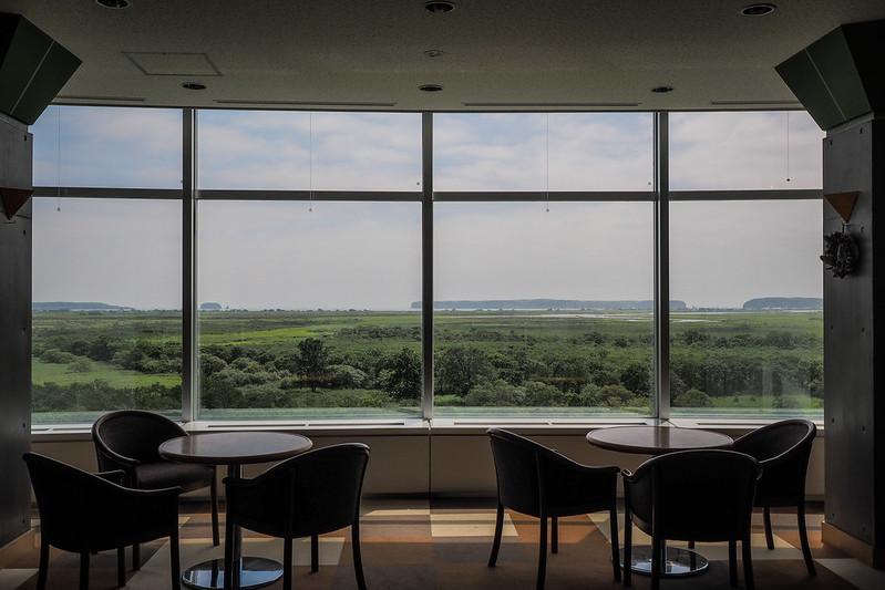 Kiritappu Nature Center overlooking the Kushiro Wetlands, Hokkaido, Japan