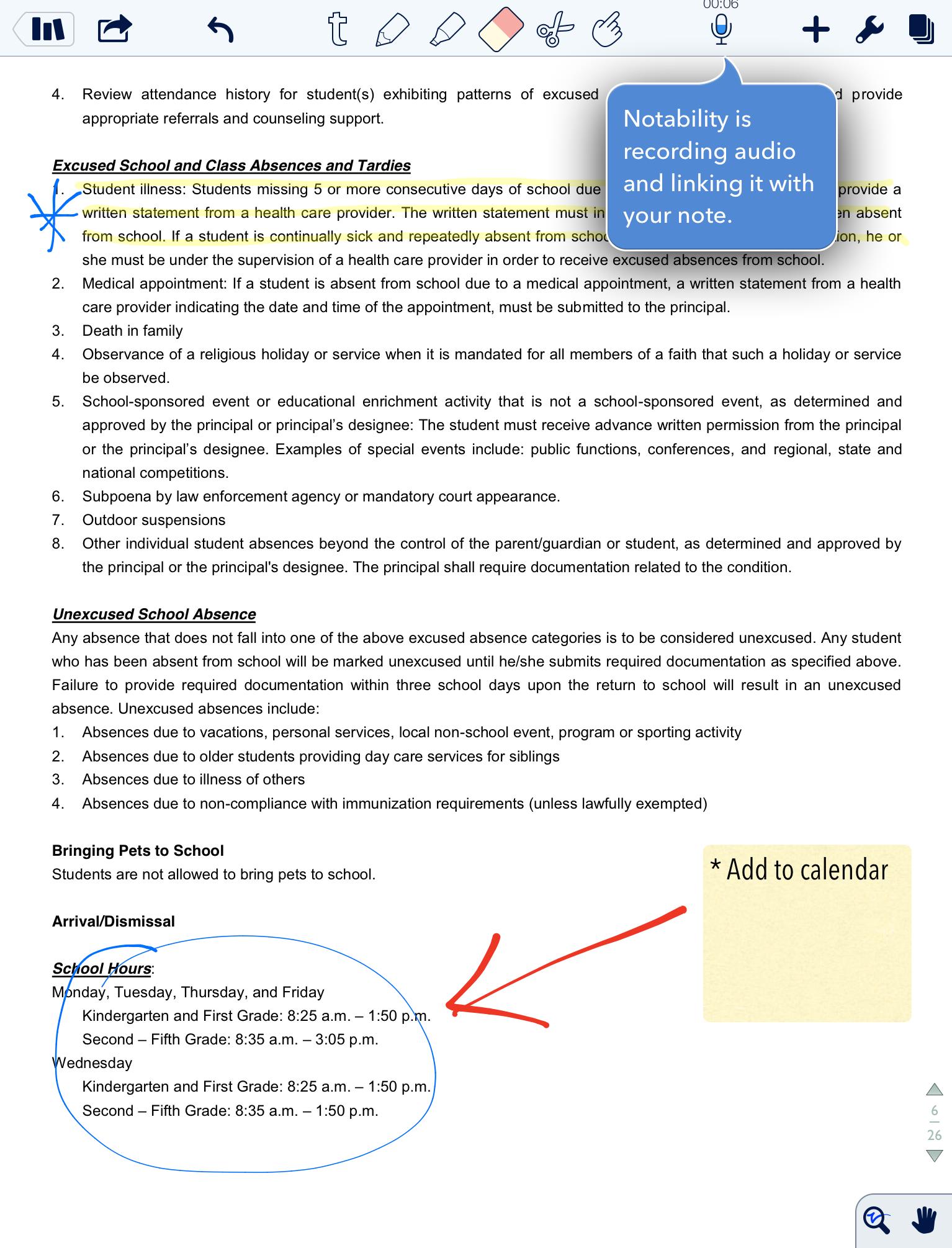 notability screenshot 5