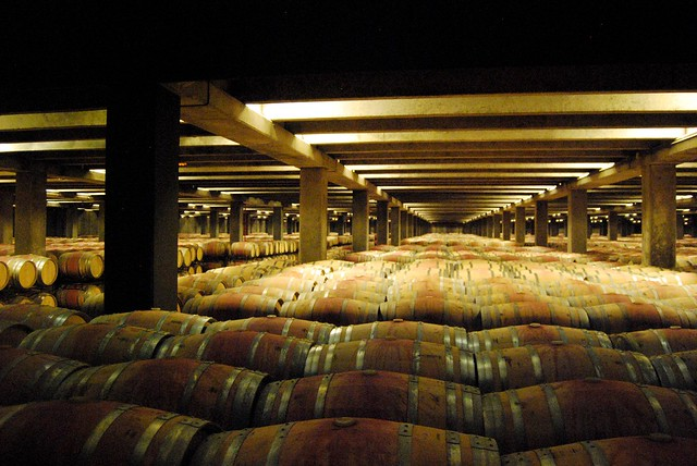 Barrel storage at Campo Viejo's Winery, Rioja