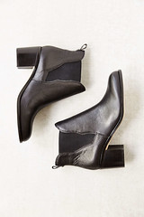 Sam Edelman Justin Hold Gore Chelsea Boot black leather