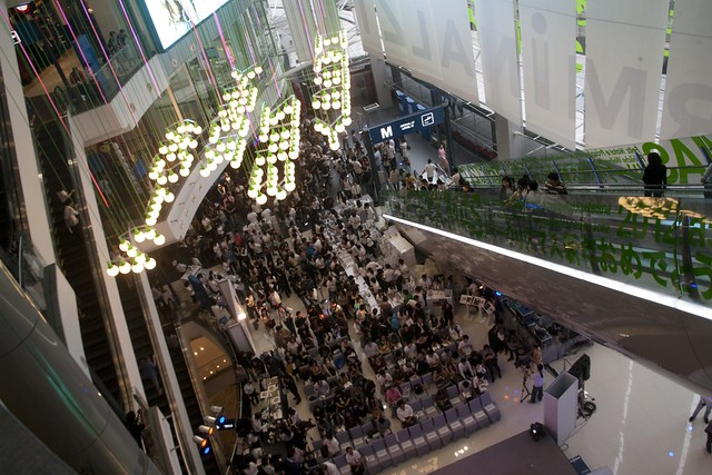 Terminal 21 festive season crowd