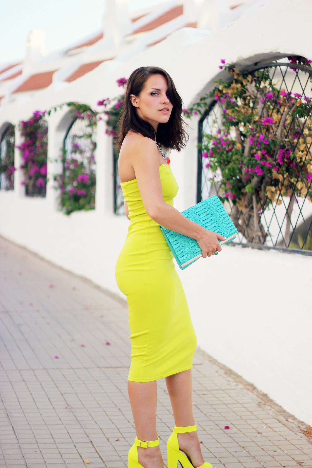 Oh My Love yellow neon dress