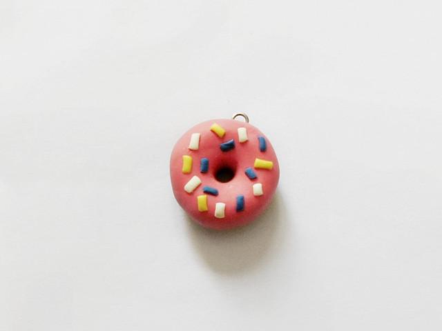 Polymer clay Donut Charm 11