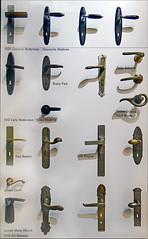 door handle, lock, iron,