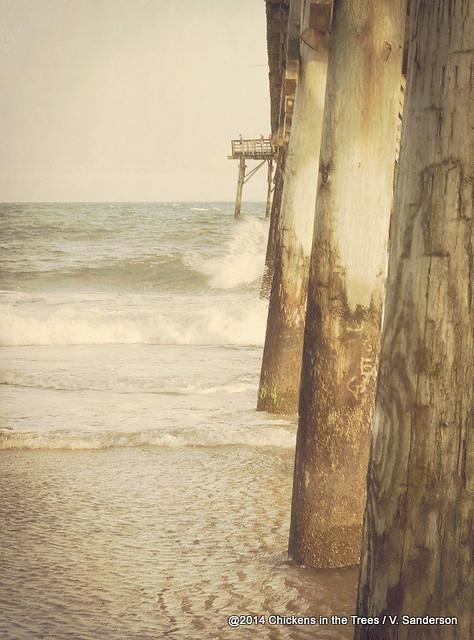 Fishing pier surf city beach topsail island nc lomo for Topsail fishing pier