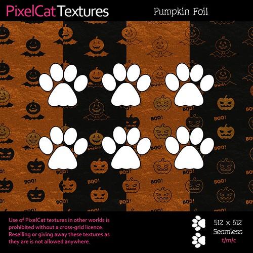 PixelCat Textures - Pumpkin Foil
