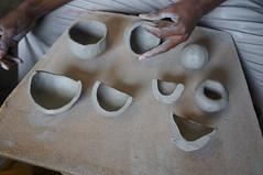 nose(0.0), carving(0.0), tooth(0.0), sculpture(0.0), head(0.0), human body(0.0), ceramic(0.0), bone(0.0), art(1.0), clay(1.0), organ(1.0),