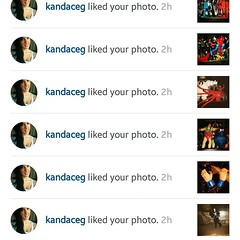 @kandaceg liked a few of my photos today #nobiggie #nofilter #InstaLike #likes #heybuddy #SillyGilly #usinghashtags #coolkids