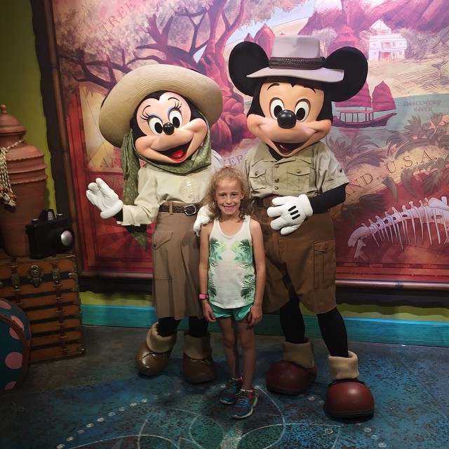 She's in love with Mickey and Minnie this trip, so of course we had to see them at the Animal Kingdom! 🐘🐘🐘 #disney #animalkingdom #mickey #minnie