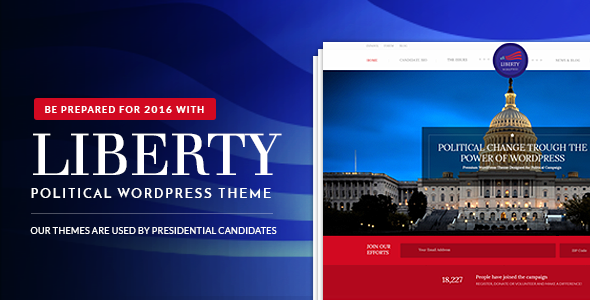 Liberty v1.2 - Your Political WordPress Theme