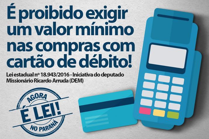 Lei estadual proíbe a cobrança de valor mínimo para compras com cartão de débito 3