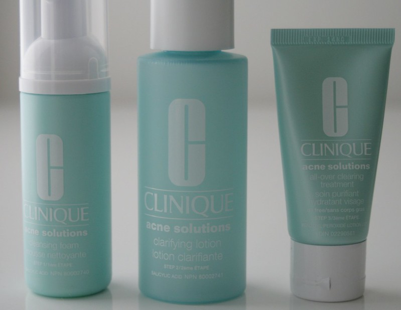 clinique-acne-solutions-clear-skin-system-unboxed, skincare routine, foaming wash, adult acne