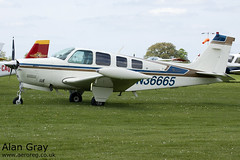 N36665 BEECH A36 BONANZA 36 E-1696 PRIVATE - Sywell - 20130601 - Alan Gray - IMG_9177