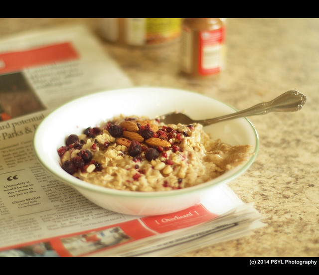 Healthy banana peanut butter oatmeal