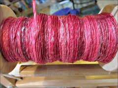 Red Sunshine handspun, as of 6/15/14