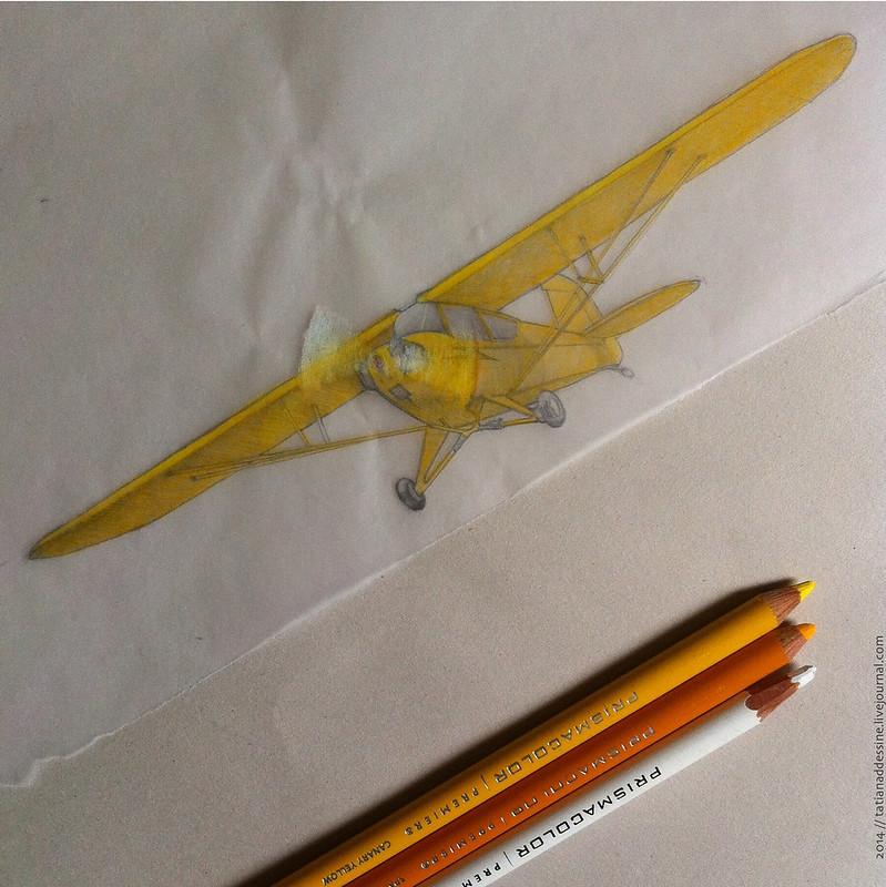l'envers au crayons de couleur 20p
