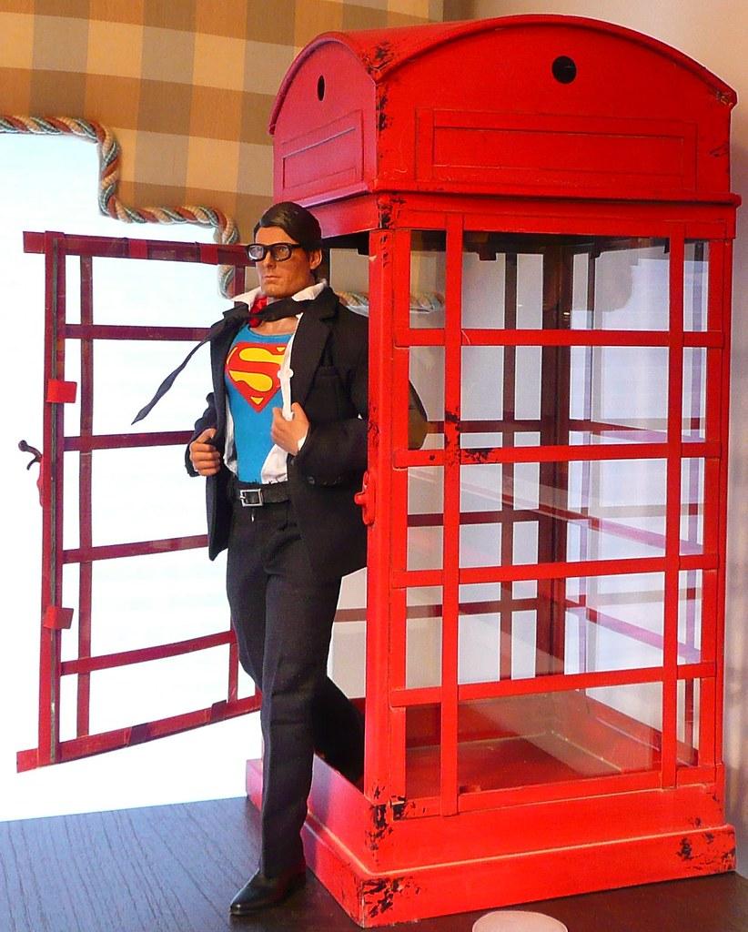 1//6 Scale Black Color Metal Glasses For Clerk Kent Superman Kit Bash Custom Use