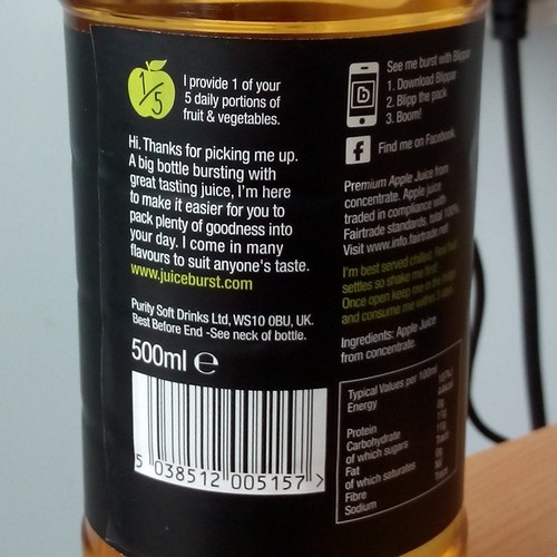 My apple juice is a bit over-friendly