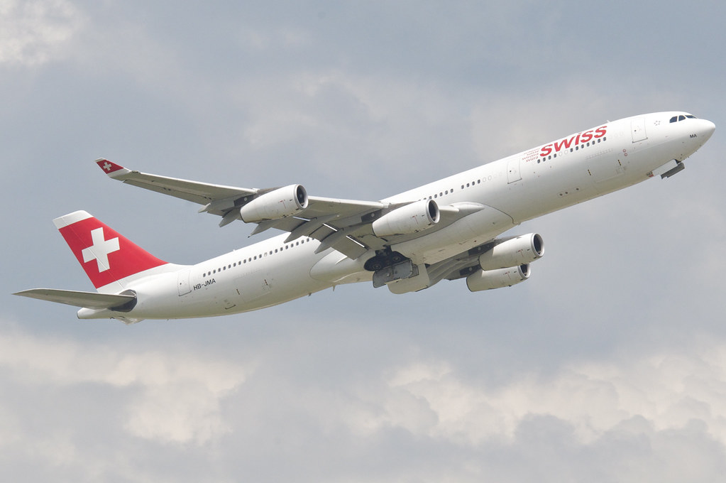 Swiss Airbus A340-313X; HB-JMA@ZRH;02.06.2014/753bz