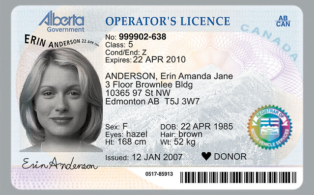 Organ donor symbol now on Alberta Driver's Licences