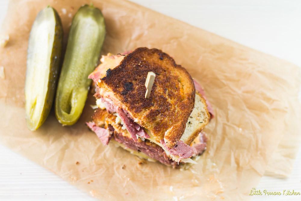 Reuben Sandwich, Kicked Up a Notch via LIttleFerraroKitchen.com