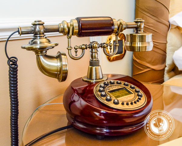 Telephone at Hotel Heritage Bruges Belgium