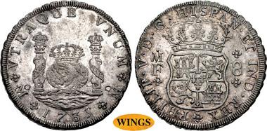 MEXICO 1724-1746. 8 Reales