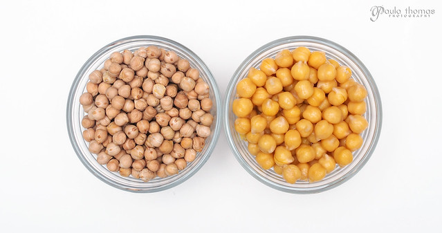 Uncooked vs Cooked Chickpeas