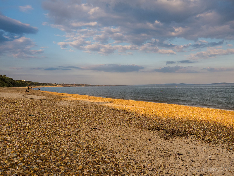 Highcliffe Beach - early evening